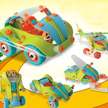 1 Piece Hot DIY Traffic Car Plastic Nut Combined Assembly Model Toy For Children Toy Five Kinds Of Form Diecasts & Toy Vehicles(China)