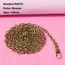 PA272 New 10pcs Purse Frame Hanger Chain 120cm Bronze Metal Clasps Purses Accessories Handles Handbags Diy Bag Parts