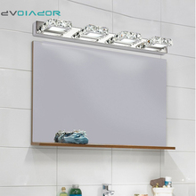 DVOLADOR led lampadent Square crystal modern bathroom mirror lighting 6W 9W 12W Led Wall Lamps Bedroom Bathroom Light [discount](China)
