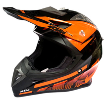 The KTM motorcross helmet motorcycle helmet and the off-road DOT standard