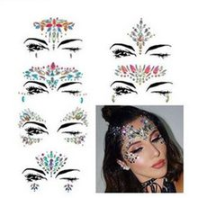 Face Jewels Glitter Rhinestone Makeup Stickers Face Temporary Tattoo Mermaid  Tears For Festival Rave Party Supplies Eyes Face Bo 37b428d50931