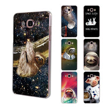 Astronaut animal dog cow Sloth pet hard clear phone Case for Samsung Galaxy J5(2017) J7(2017) J510 J710 J2 Prime J3 2016 J1