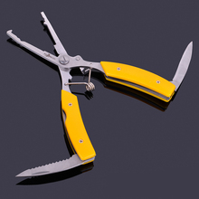 Anzhenji 2017 Stainless Steel Multifunctional Aluminum lure fishing pliers fishing scissors Best Quality tools Fishing Tackle(China)