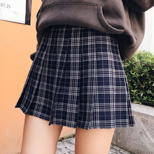 Buy 2018 Spring Summber Skirts High Waist Striped Skirt Plus Size Pleated Mini Skirts England Wrap Skirt Womens for $10.99 in AliExpress store