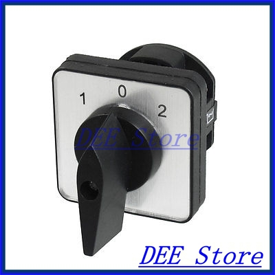 LW8-10/1 4 Screw Terminals 1-0-2 Position Changeover Switch<br><br>Aliexpress