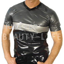 Latex T Shirts For Men Fetish Exotic Vests Sexy Plus Size Customization 100% Natural Handmade Free Express