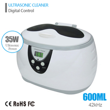 Digital Ultrasonic Cleaner Wash Bath Tank Baskets Jewelry Watches Dental 0.6L 35W 42kHz Ultrasound Cleaner Mini Ultrasonic Bath