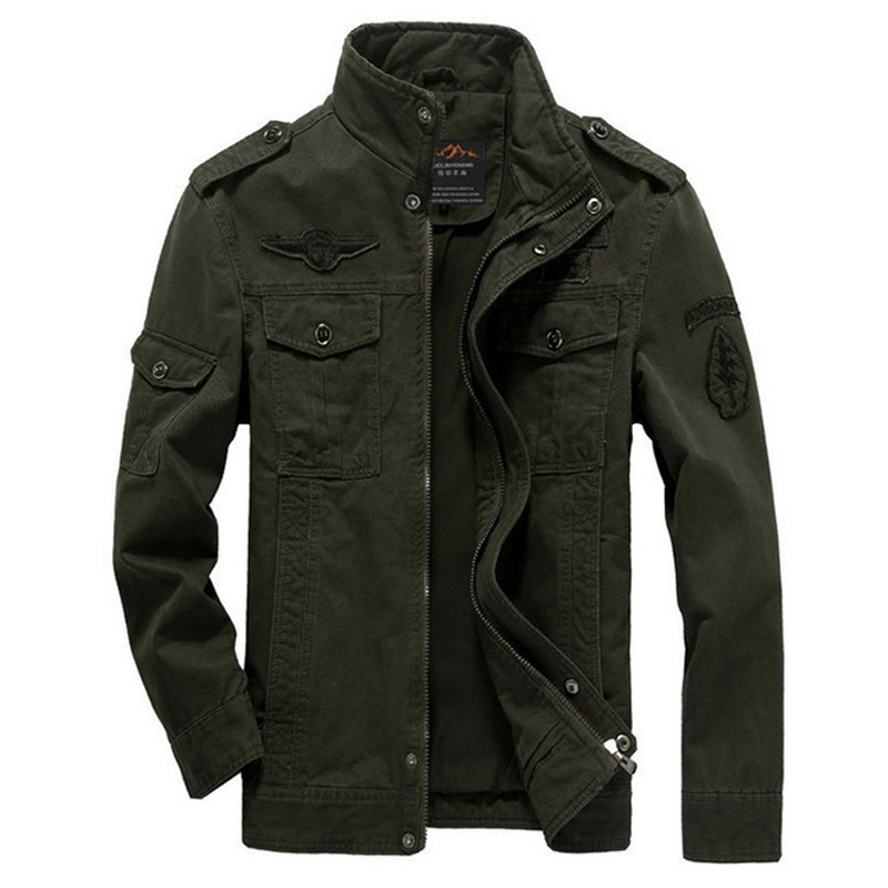 XingDeng Military Army fashion Men Jacket Bomber Jackets Plus Size 6XL Coat Mens Denim clothes for Male top coat