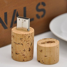 10pieces/lot beer friends 4GB Wine Bottle Stopper Wood Cork USB flash memory Card usb flash drive lot