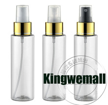 Free Shipping - 300pcs/lot 100ml Clear Perfume Bottle With Gold Clourse,100ml Mist Sprayer Bottle,100ml Perfume Atomizer