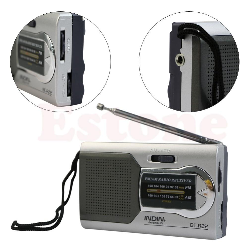 Universal Slim AM//FM Mini Radio World Receiver Stereo Speakers High Performance Music Player