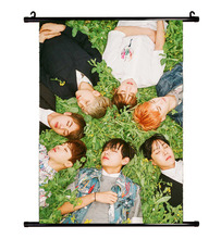 Hot kpop BTS Bangtan Boys Mood for Love Official periphery paintings Poster k-pop bts album Fabric painting Lyrics libretto lomo(China)