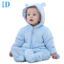 IDGIRL Brand Baby Clothes High Quality Cartoon Cotton Thick Warm Infant Jumpsuit Winter Clothing Baby Rompers JY0102