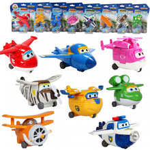 Metal Super Wings Mini Alloy Planes Slide Airplane Robot Action Figures Boys Gift Brinquedos for Christmas Birthday Gift(China)