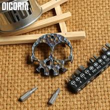 Buy DICORIA Skull Skeleton TC4 Titanium Hand Tools sets outdoor gear Multi function Screwdrivers Sockets bottle opener pocket EDC for $38.00 in AliExpress store