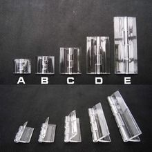 6pcs Clear Transparent Acrylic Plastic Hinge Box Piano Plexiglass Hinge(China)