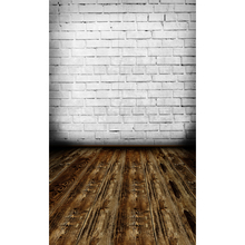 Customized vinyl print brick wall wood floor photography backdrops for model photo studio portrait background F-1567