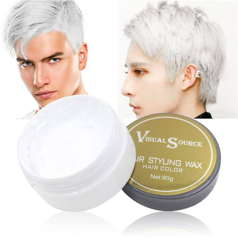 Professional Dynamic Modeling Hair Wax Makeup 5 Colors Hair Dye Wax Hair Color One-time Molding Paste Color Hair Wax New 2018 13