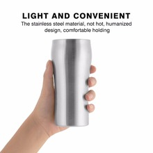 Free Shipping Supreme Quality Double Wall Vacuum Insulated Tumbler/Pint Stainless Steel Beer Coffee Mug/Cup 420ml (00301)