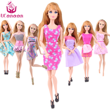 UCanaan Randomly Pick A Lot = 5 Sets Handmade Fashion Lady Outfit Wear Blouse Trousers Shorts Pant Skirt Clothes for Barbie Doll