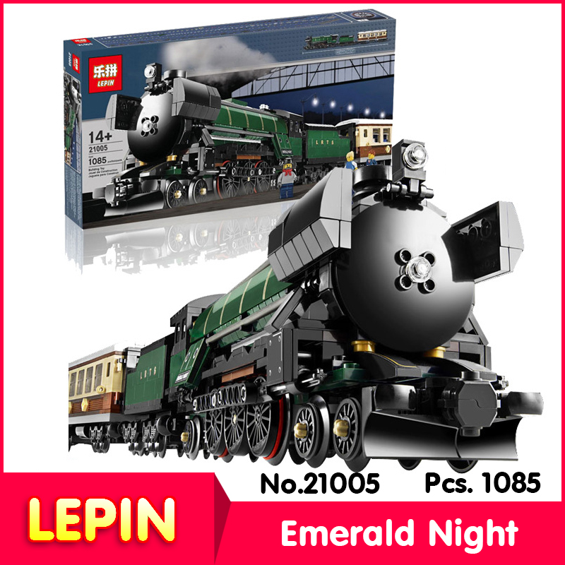 LEPIN 21005 1085Pcs with original box Technic Series Emerald Night Train Model Building Block Bricks set Toys Compatible 10194<br><br>Aliexpress