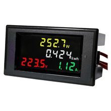 Buy AC 80-300V LCD Digital Voltmeter Ammeter Volt Amp Power Kwh Panel Meter 100A CT for $13.76 in AliExpress store