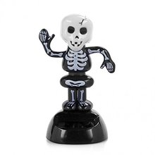 Solar Power Dancing Figure Gruesome Skeleton,Novelty Desk Car Toy Ornament(China)