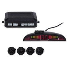 Car Parking Sensor Kit Auto LED Display 4 Sensors Voice Warn For All Cars Reverse Assistance Backup Radar Monitor Parking System(China)