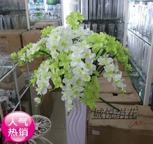artificial flowers of Freesia Freesia high branch home decorative floral floral bouquet plastic floor living room