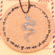 New Silver Tibetan snake cobra Necklace Pendant with Leather Cord and Handmade Jewelry Factory Price Fashion