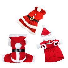 3 Styles Pet Christmas Clothes Red Cotton Warm Dress Coat Hoodie for Small Medium Dogs Puppy(China)
