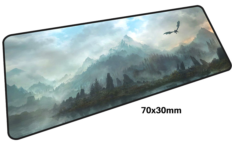 skyrim mouse pad gamer 700x300mm notbook mouse mat large gaming mousepad large Birthday present pad mouse PC desk padmouse 1