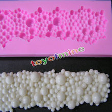 3D Round Pearls Bubbles Silicone Fondant Mould Cake Decor Baking Mold Christmas(China)