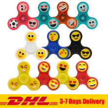 Buy 50 PCS/lot Wholesale DHL Fidget Spinner Smile Face Glow Dark Autism ADHD Hand Spinner Anti Stress Fidget Toys Gifts for $79.00 in AliExpress store