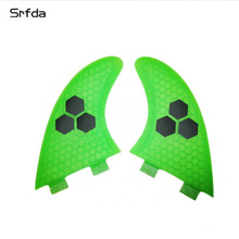 3Pcs/set Surfboard Fins Fiberglass FCS G5 FCS G7 Surf Fins Honeycomb SUP Board Thruster Fins Set General Surfing Rudder Size M(China)