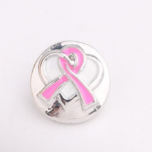 NEW 5pcs/lot Snaps Pink Knot bow Heart watch Snap Jewelry 18mm snap new button Fit watch Bracelet Jewelry