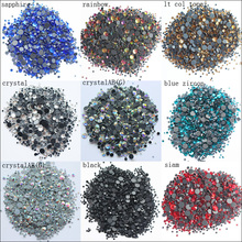 Free shipping 2500pcs/lot mix size crystals and stones hotfix glue back iron on rhinestones for clothes
