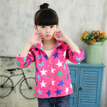 Girls Sport Jackets And Coats Pretty Cartoon Outdoor Coat Children's Cute Sport Kids Trendy Clothing 2017 New Spring&Autumn