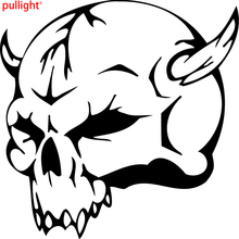 This is a devil skull die cut vinyl sticker or decal. Great Cool Graphics for Motorcycle SUVs or laptop(China)