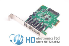 New 6 Ports USB 2.0 PCIE HUB CARD Renesas usb expansion USB 2.0 PCI-Express card (6 external Ports and 2 internal Ports)