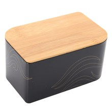Vintage Black Metal Bread Tea Storage Box Bin Christmas Candy Chocolate Container Boxes Home Kitchen Organizer Gift Box Holder(China)