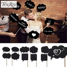FENGRISE 10pcs Photo Booth Wedding Decoration DIY Mini Chalkboard Signs Photography Sweet Gifts Birthday Event Party Supplies