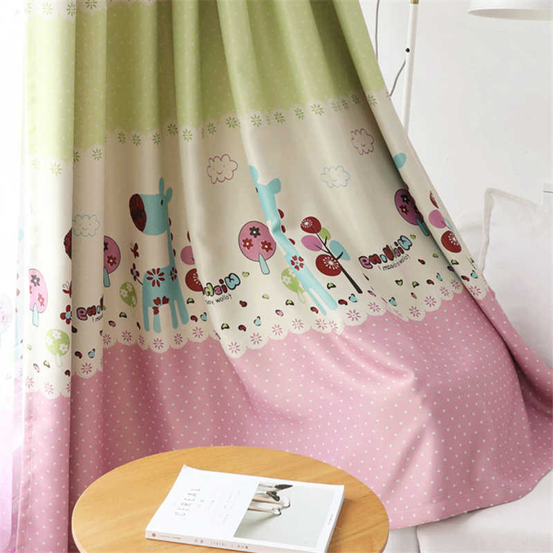Curtain Children Pink Window Yarn Girl Baby Room Bedroom Blackout Kids Curtains For Living Rideau Enfant