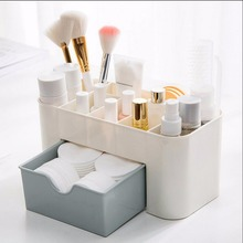 Makeup Brush Cosmetic Organizer Plastic Cosmetic Storage Display Box Drawers Storage Box Make Up Organizer Container Box