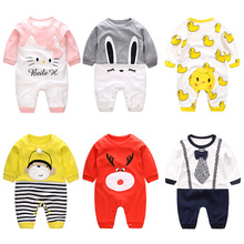 Newborn Baby Clothes Overalls  Infant Wear  Baby Boys Girls Rompers Long Sleeved Jumpsuit Sleep Wear Kitty