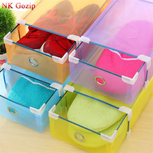 5pcs Ladies Stackable Foldable Plastic Clear Shoe Box Boxes Storage Organiser Foldable Clear Handhold Storage Shoe Box