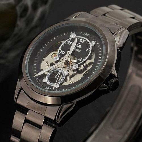 Class Titanium Design New Fashion Skeleton Mechanical Watch Men Luxury Brand SEWOR BRAND Wrist Watches Men Relogio Masculino<br><br>Aliexpress