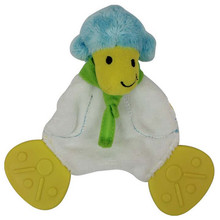 BPA free baby puppet scarf sheep teethers rattles designer soothe towel rattles educational toys Gift small 15CM X15CM