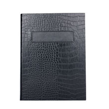 50 pcs/lot PU Leather Restaurant Menu Holders Upscale Hotel Cafe Menu Covers Menu Folder Black Alligator Grain Customized Order
