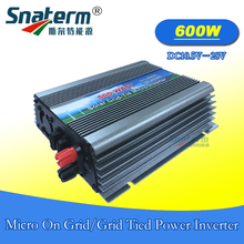 Free shipping!! 600Watts MPPT Solar PV Micro on Grid tie Power Inverter DC10.5-28V AC 220V AC110V 50HZ 60HZ for 18V solar panels